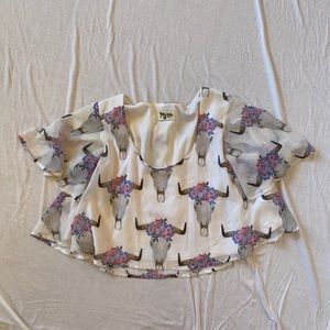NEW Show Me Your Mumu cow skull top